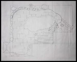 Landscape Design Hand Drawing